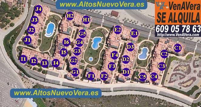 Alquiler de Apartamentos en Altos de Nuevo Vera. Plano Altos de Nuevo Vera