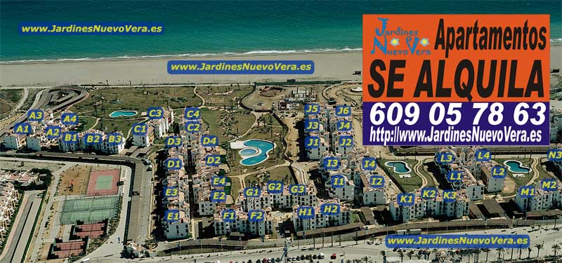 Alquiler de Apartamentos en Jardines de Nuevo Vera. Plano Jardines de Nuevo Vera